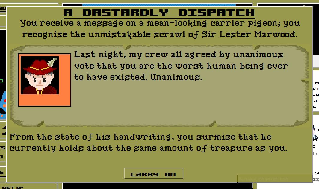 A dastardly dispatch indeed.