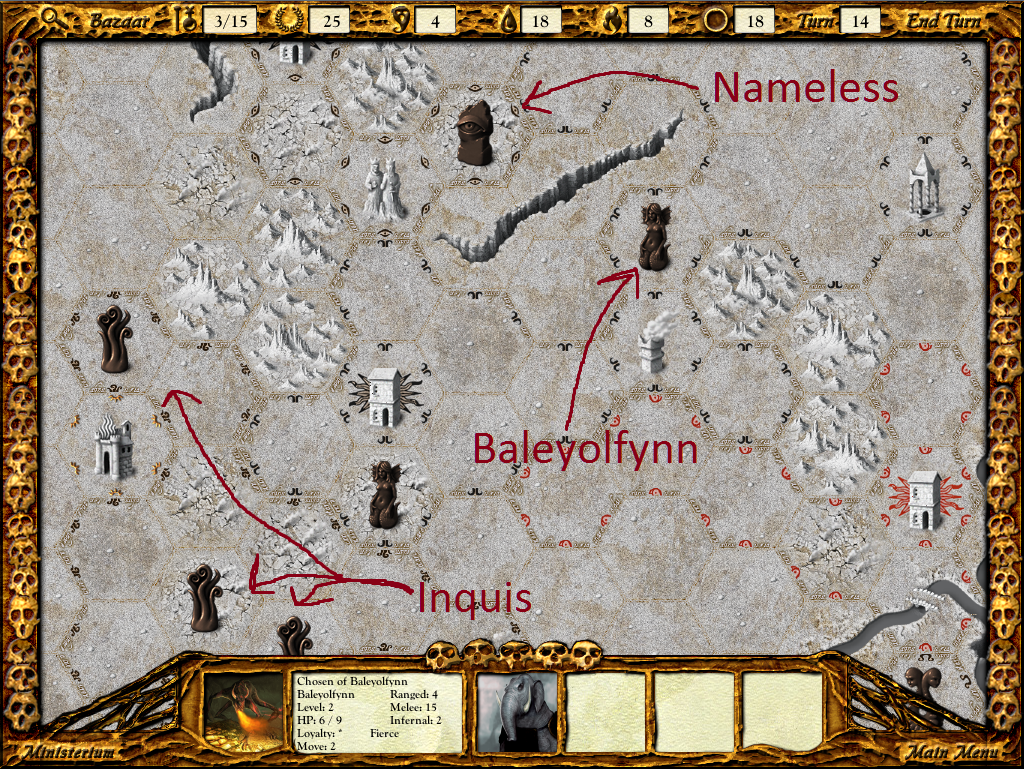 Baleyolfynn's huge legion is heading southwest. Is he going after Inquis?