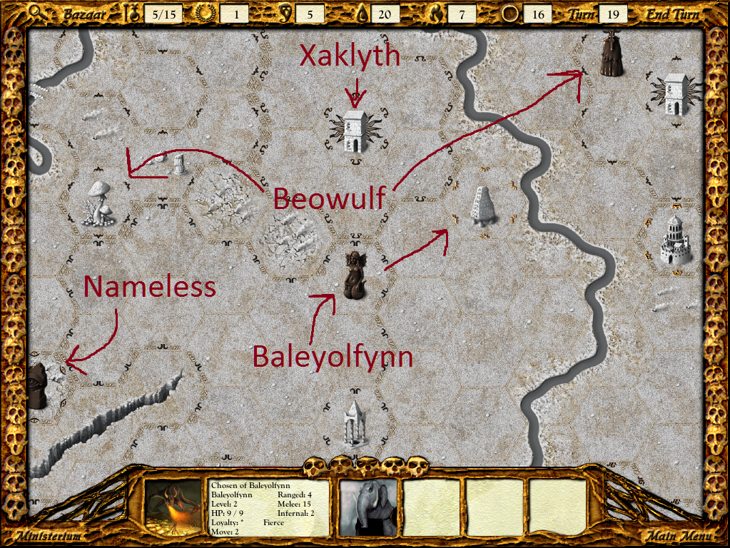 Baleyolfynn is heading for this unclaimed Place of Power, but I can't do anything to stop him.