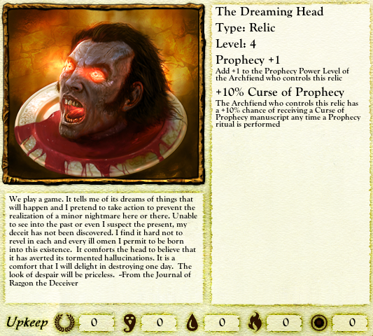 A suitably creepy way to boost one's Prophecy power.