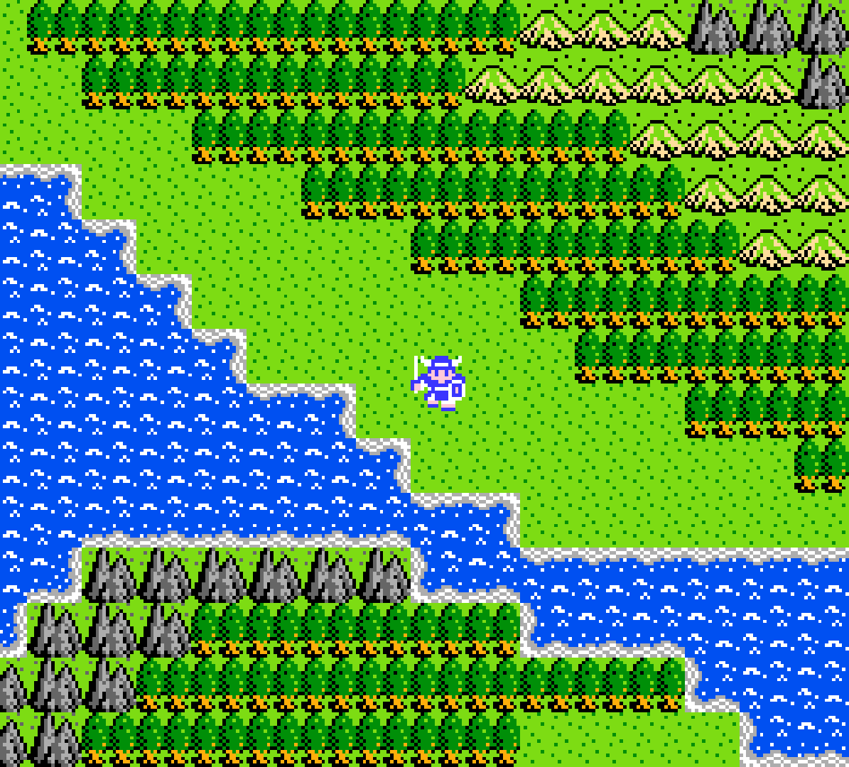 Exploring the colorful realm of Alefgard.