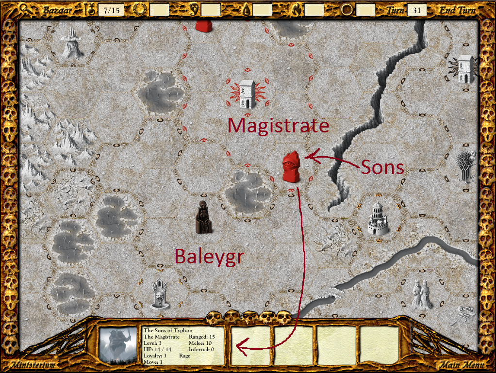 The Sons of Typhon ensure that The Magistrate's southern border cannot be breached.
