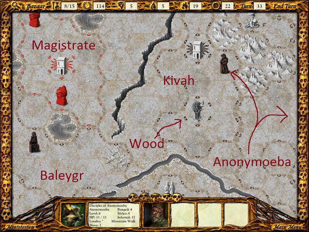 Anonymoeba invades Kivah's territory.