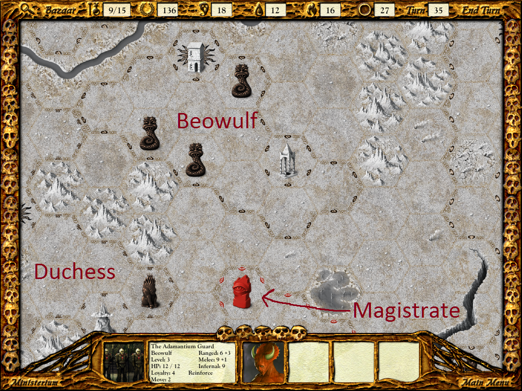 Beowulf's army is concerning.