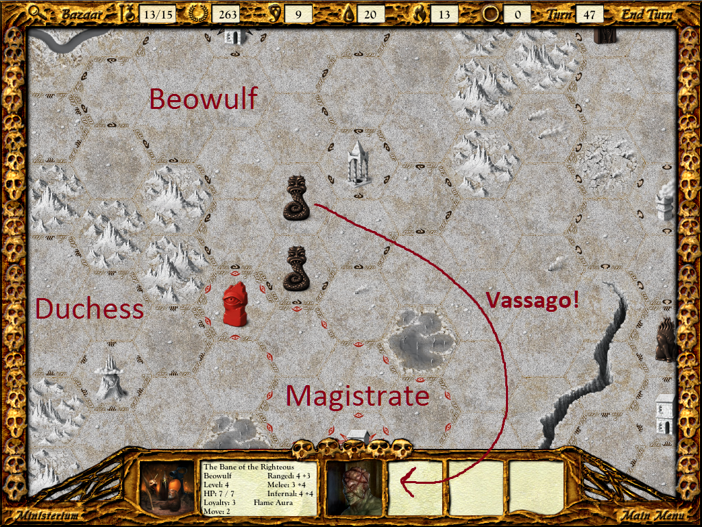 Beowulf has put Vassago out in the open, ripe for stealing.