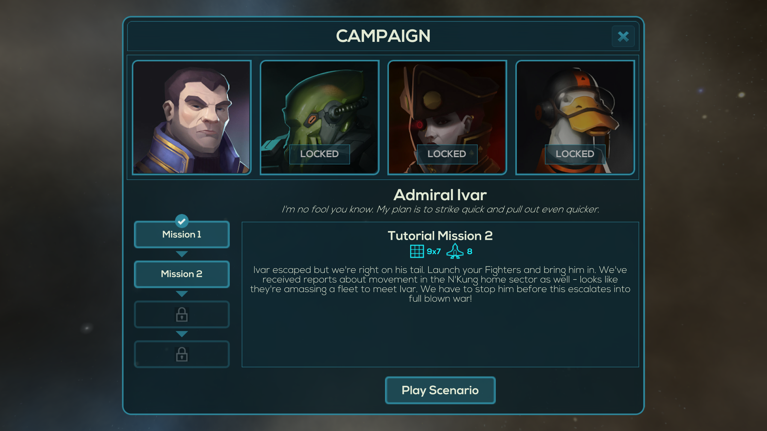 It features the lightest of stories, but the campaign is really just a tutorial.
