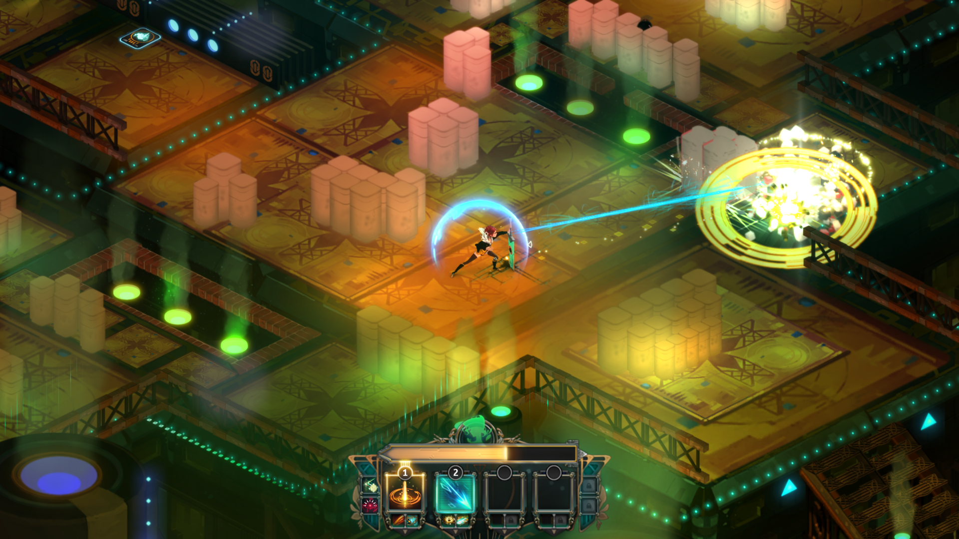 Zapping things in Transistor sure is pretty.