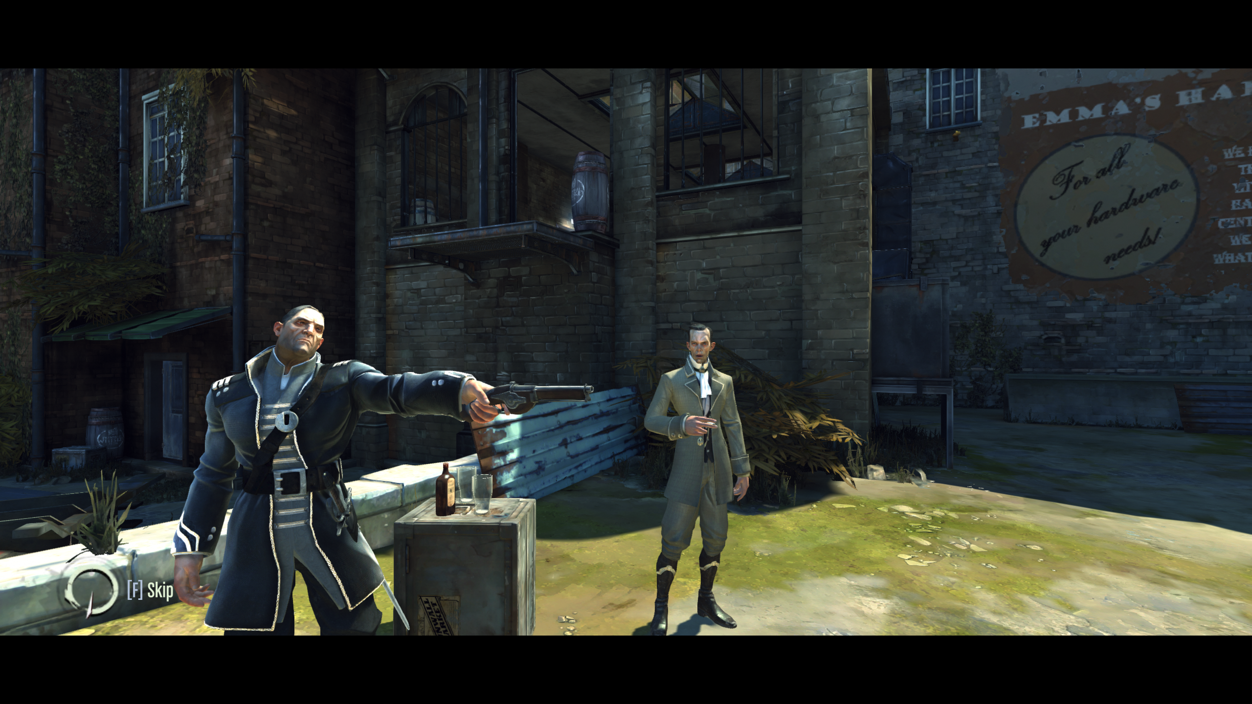 That's Treavor Pendleton in the back, and Havelock with the pistol.