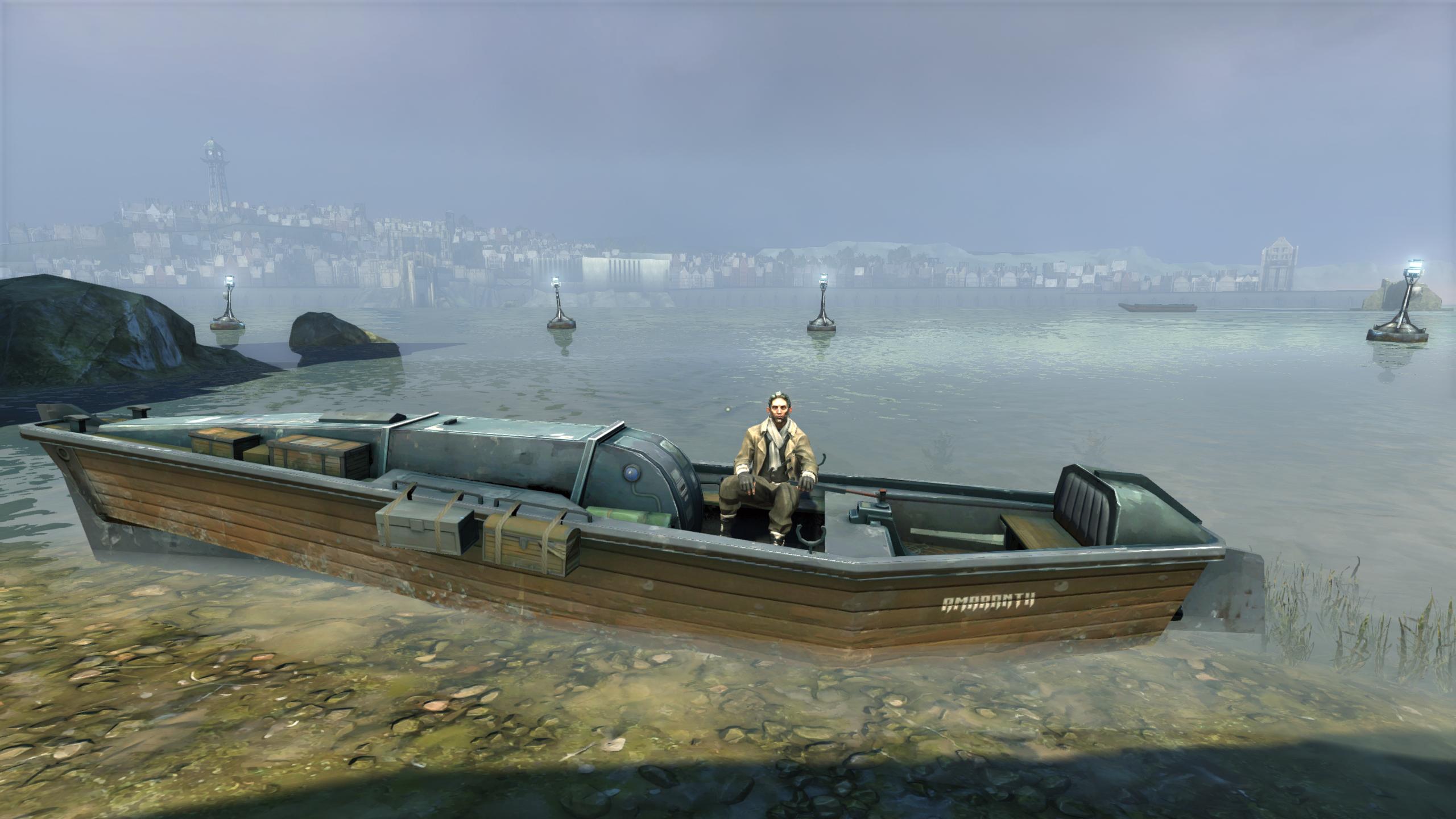 Samuel the boatman is ready for one last trip.